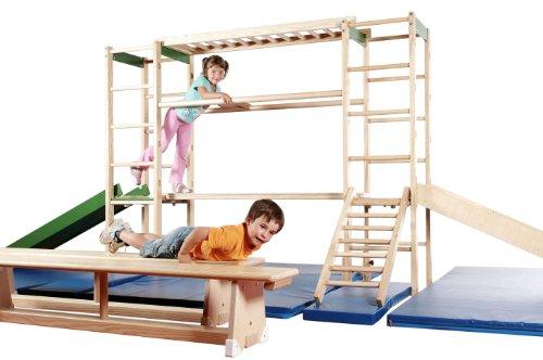 sprossenwand Klettergerät Erzgebirge, Indoor Sport- und Spielgerät aus Holz