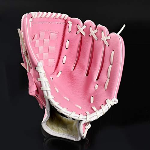 AMCYT Baseball Handschuhe Sport & Outdoor Baseball Glove Batting Handschuhe Softball Handschuhe für Kinder Erwachsene Verdicktes Umweltschutzmaterial (Rosa,9,5 Zoll)