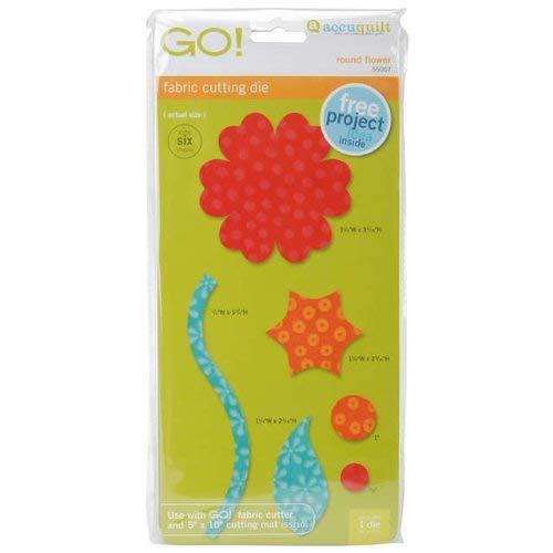 AccuQuilt GO! Fabric Cutting Dies; Round Flower
