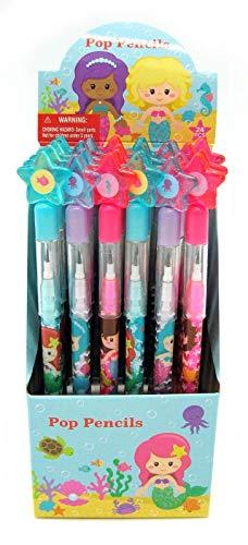 TINYMILLS 24 Pcs Mermaids Multi Point Pencils