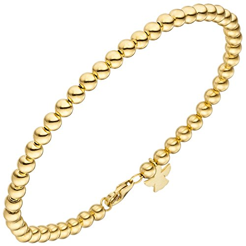 JOBO Damen-Armband Schutzengel aus 585 Gold 19 cm