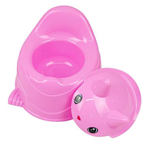 MEDIAWAVE Store Vasino Happy Animals 497357 bambini ROSA 30x25cm in plastica colorata max 20 Kg (Rosa)
