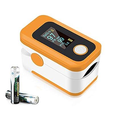 Pulse Oximeter NHS Approved UK, Oxygen Saturation Monitor,Heart Rate Pulse Oximeter, Fingertip Sp02 Blood Oxygen Monitor High Portable Oximeter for Adult Child