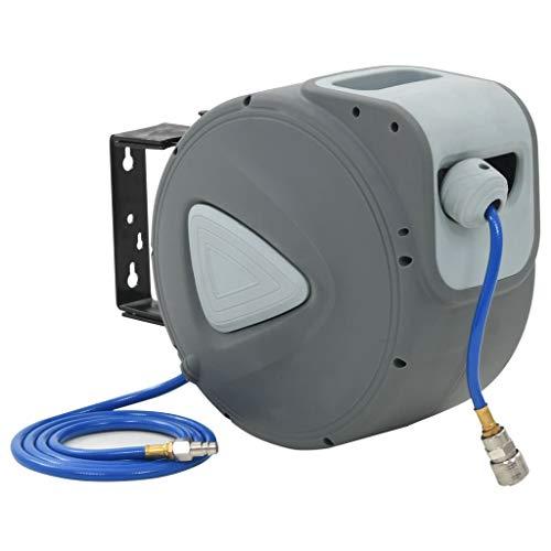 Festnight Automatischer Luftschlauchaufroller | Druckluftschlauch | Schlauchtrommel | Schlauchaufroller (1/4