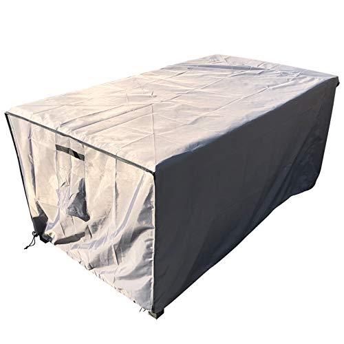 Laxllent Schutzhülle für Tisch Hülle Gartenmöbel Abdeckung,Wasserdicht Atmungsaktiv Reißfest,für Outdoor-Stühle,Sofas170x95x70CM,Oxford Gewebe 210D,Grau