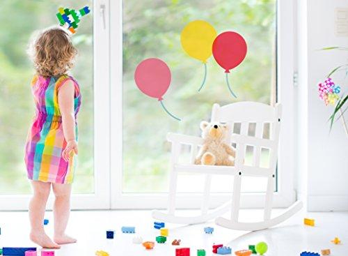 3 Luftballons - Fenstersticker Sticker Fensteraufkleber F012