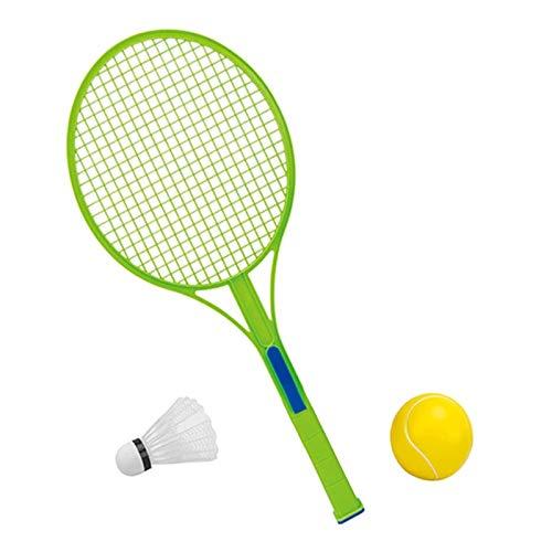 Zhicaikeji Raqueta de Badminton Padre portátil-niño Deportes bádminton Raqueta bádminton Tenis de Tenis en el Exterior para Juegos de Bádminton (Color : Verde, Size : 49.5x21.5cm)