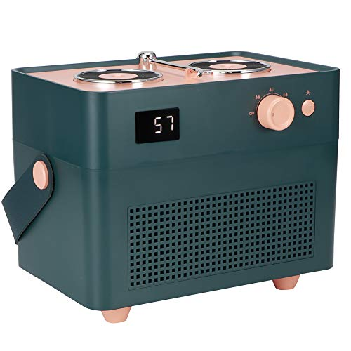 Changor Humidificador de Aire Doble, humidificador de Niebla Fresca 3 Horas Tiempo de Carga 1.6A 1.3L con ABS + PP