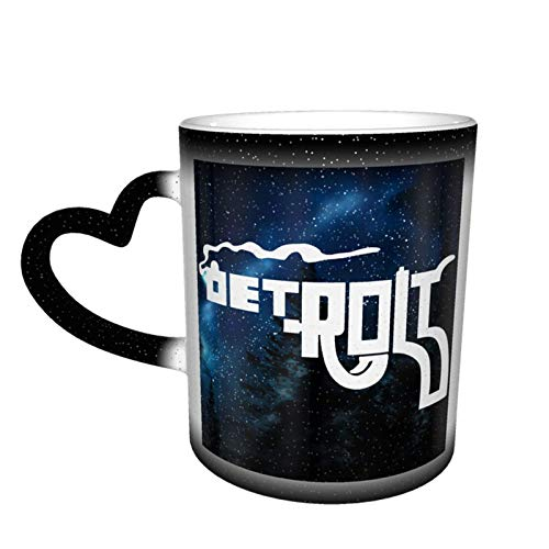 Detroit Smoking Gun Piktogramm Hitze Farbwechsel Tasse Kaffeetasse Personalisiert Lustiges Design mit Foto Bild