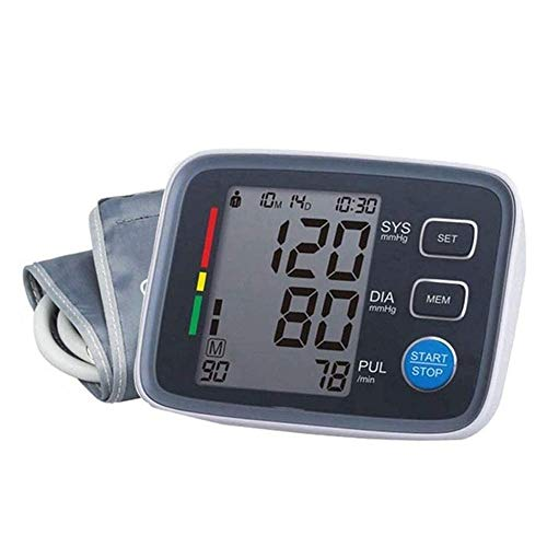 Qin Blood Pressure Monitor Upper Arm, Digital BP Machine for Home Use with Cuff, Portable Meter, for Home Hospital Medical Sports Detection