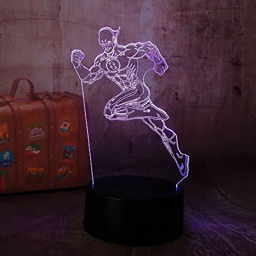Elemento de moda decoración del hogar lámpara de mesa de superhéroe 3D USB LED accesorios de luz nocturna iluminación indirecta luz ambiental luz nocturna