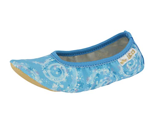 Brütting Unisex - Kinder Ballerinas G 1 Style, Kids junior Kleinkinder Kinder-Schuhe toben Spielen verspielt detailreich,blau/Weiss,25 EU