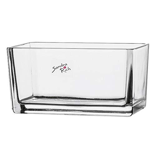 Sandra Rich Blumenkasten aus Glas 15 x 7,5 x 6,5 cm