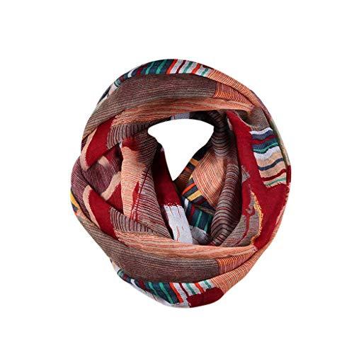 CHUTD Bufanda para Mujer  Bufanda de Cuello Motivos como Accesorio otoño Invierno  Choque y Arruga, Sedoso y Ligero  Idea de Regalo para Mujeres y niñas (Vino a