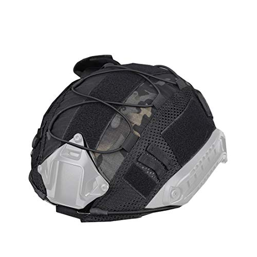 PP-NEST Tactical Helmet Cloth Cover Black CJ/TKB-01 Without Helmet