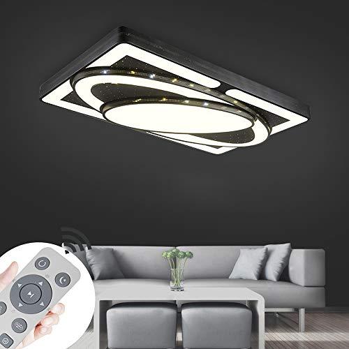 MIWOOHO 78W Design LED Deckenlampe Dimmbar mit Fernbedienung LED Deckenleuchte Wohnzimmer Lampe Schlafzimmer Küche Leuchte [Energieklasse A++]