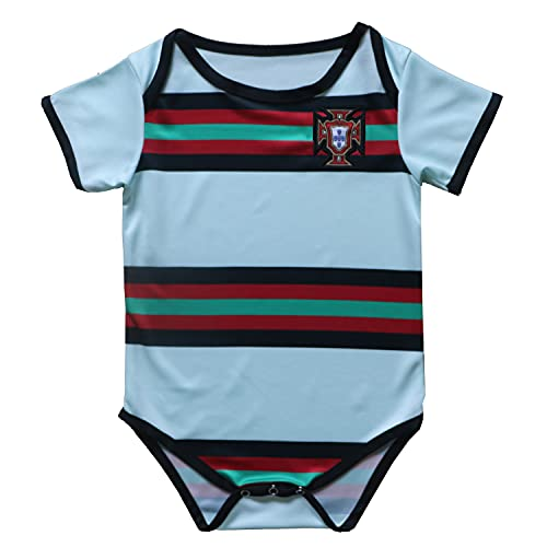 FPF Portugal Away National Soccer Team Club Cotton Bobysuit Baby Suit for Romper Infant & Toddler (Portugal Away, 18M)