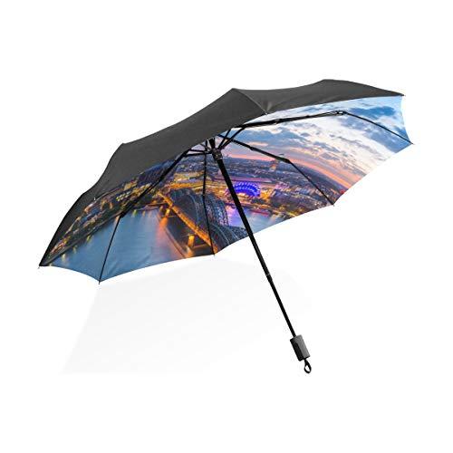 Robuste Regenschirme Für Frauen Herrlich Für Immer Kölner Dom Tragbare Kompakte Taschenschirm Anti Uv Schutz Winddicht Outdoor Reise Frauen Kinder Regenschirme