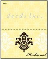 DEEDS 紙製ポイントカード 50マス PCA-010 250枚 / ショップカード スタンプカード 美容室 サロン ネイル エステ