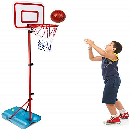 ANIPP Aro de baloncesto para niños, altura ajustable, aro de baloncesto interior, juguetes al aire libre, juegos de patio trasero, mini aro de baloncesto para niños y niñas