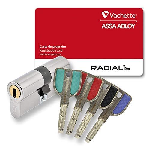 Profilzylinder für VACHETTE RADIALIS, vernickelt, 4 Schlüssel + Sicherungskarte, Radialis