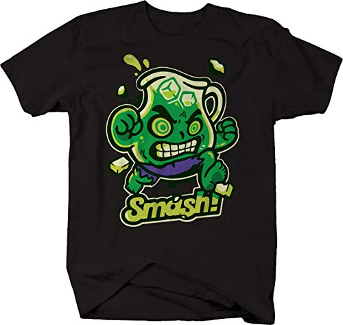 The Incredible Comic Kool-Aid Man Smash Oh Yeah Novelty Space Nerd Tshirt Men Large Jet Black