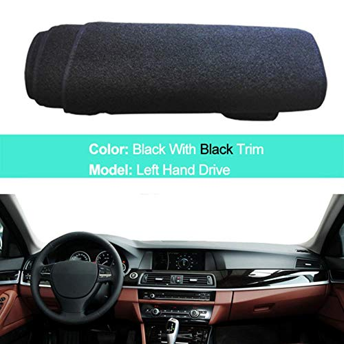 Per BMW Serie 5 F10 2010-2016 520I 525I 530I 535I Car Interior Dashboard Cover Dash Mat Carpet 2011 2012 2013 2014 2015, LHD Nero