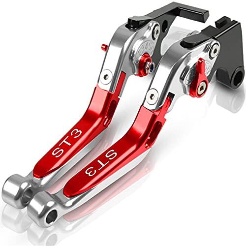 Puños de manillar de motocicleta Accesorios de motocicleta Patrón plegable plegable Embrague ajustable extensible Palancas de freno para Ducati ST3 S ABS 2003 2004 2005 2006 2007 Aplicabilidad durader