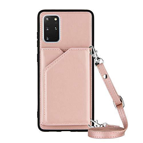 Lanyard - Funda para Samsung Galaxy S20+/S20 Plus (6,7 pulgadas), color oro rosa