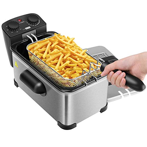 Find Discount VIVOHOME 1700W 3.2 Quart Deep Fryer with Basket and Timer for Home Use (Renewed)