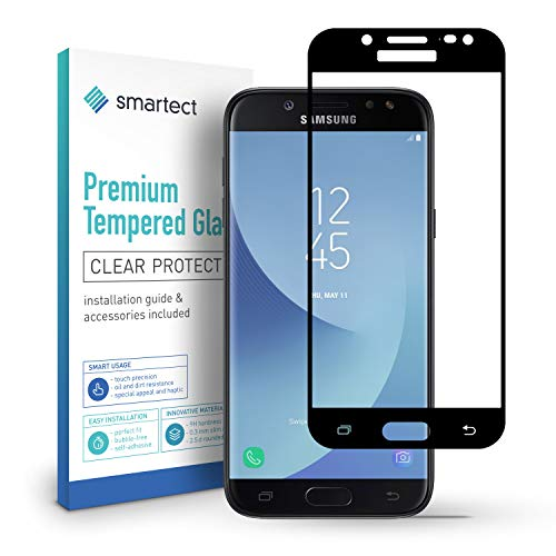 smartect Full Screen Beschermglas compatibel met Samsung Galaxy J5 2017 [2x Full Screen] - screen protector met 9H hardheid - bubbelvrije beschermlaag - antivingerafdruk kogelvrije glasfolie