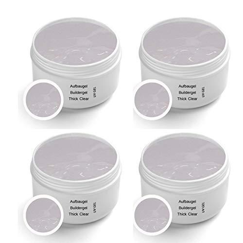 UV Thick Clear Builder Gel Premium 4x30 ml - Builder Gel Clear gel pour ongles gel ongles clair