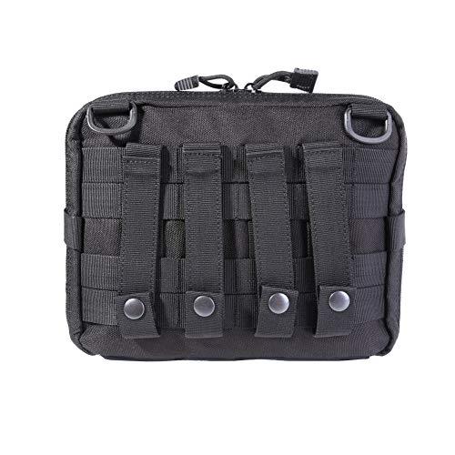 Tracffy New 1000D Nylon Exterior Tactical Molle Pouch Durable Bolsa Multifuncional Cremallera Impermeable Gran Capacidad Medicina Bolsas