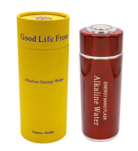 Tragbarer Alkalische Wasserflasche, Alkaline Water Flask Health Cup in rot/red