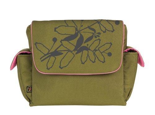 Fleurville FLE-RMS-OLI Re-Run Messenger Wickeltasche, olive