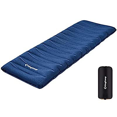 KingCamp Camping Sleeping Pad Mattress Ultralight Self-Inflating Backpacking Pad Thick Mattress, Prevention of Rollover for Backpacking, Camping, Hiking, Single Pad
