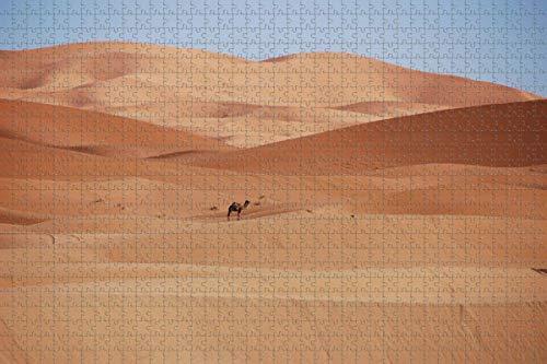 Marruecos desierto dunas de arena camello rompecabezas para adultos 1000 piezas de madera viaje regalo recuerdo