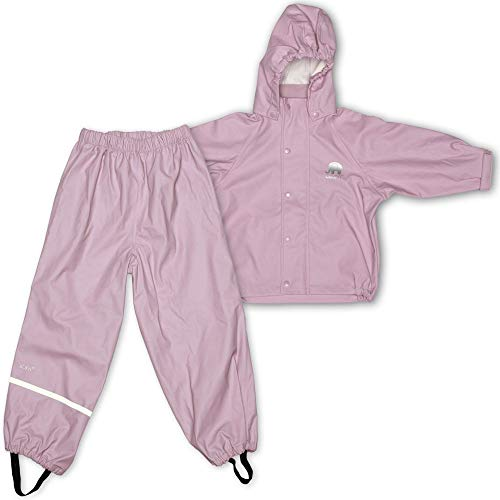 CeLaVi Mädchen CeLaVi zweiteiliger Regenanzug in vielen Farben Regenjacke,,per pack Rosa (Misty Rose 524),(Herstellergröße:100)