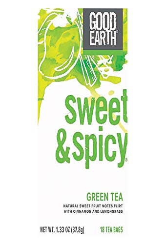 Sweet & Spicy Green Tea, 18 Count by Good Earth Teas