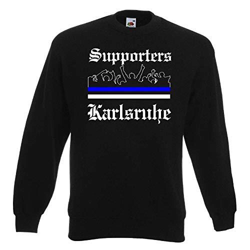 Karlsruhe Herren Sweatshirt Ultras Supporters Schwarz XL