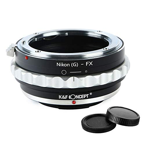 K&F Concept Lens Adapter Ring for Nikon G to Fuji X Fujifilm X FX Mount X-A1 X-A10 X-A20 X-A2 X-A3 X-A5 X-M1 X-E1 X-E2 X-E2S X-E3 X-T1 X-T2 X-T3 X-T10 X-T20 X-T30 X-T100 X-Pro1 X-Pro2 X-H1