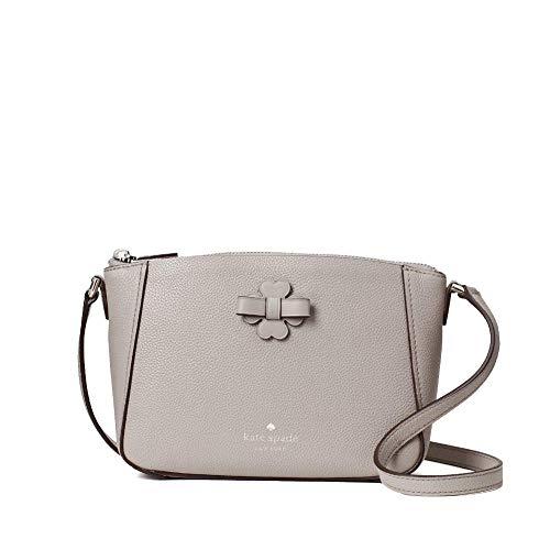 Kate Spade Talia Leather Zip Crossbody Bag Purse Handbag (Soft Taupe)