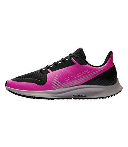 Nike Air Zoom Pegasus 36 Shield Women's Running Shoe FIRE Pink/Silver-Black-Atmosphere Grey Size 8.5