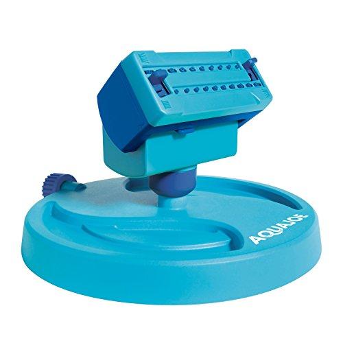 Aqua Joe AJ-OSPR20 20-Nozzle Max Coverage Adjustable Gear Driven Oscillating Sprinkler on Sled Base
