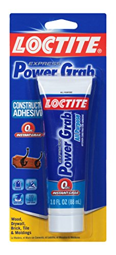 Loctite Power Grab Express All Purpose Construction Adhesive, 3 Ounce Squeeze Tube (2031710)