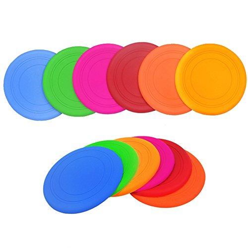 Ecloud Shop® 2pcs Pet Frisbee Perro de Juguete Frisbee Suave Pet Training Dog Training Frisbee Table Pad (Color al Azar)