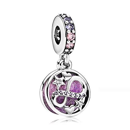 pandora 925 colgante de plata de ley DIY accesorios de joyería de moda infinito amor encanto se adapta pulsera haciendo joyas para las mujeres