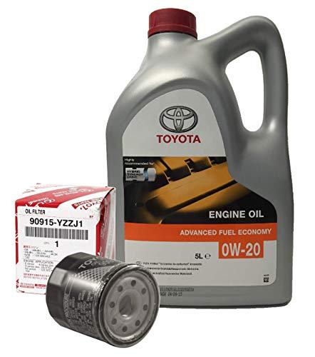 DUO TOYOTA service set voor 0W-20 5L hybride oliemotor + oliefilter 90915-YZJ1