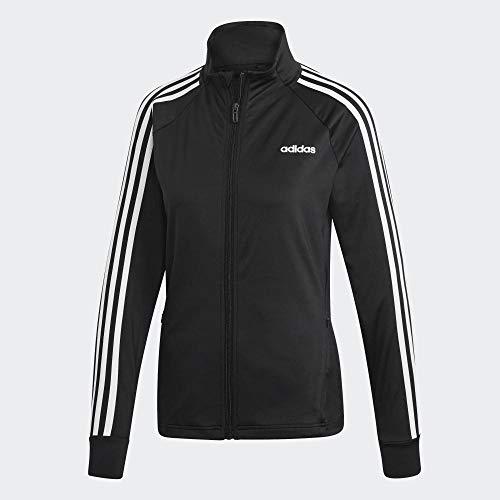 adidas Damen Trainingsjacke D2M 3-Streifen, Black/White, L, EI5529