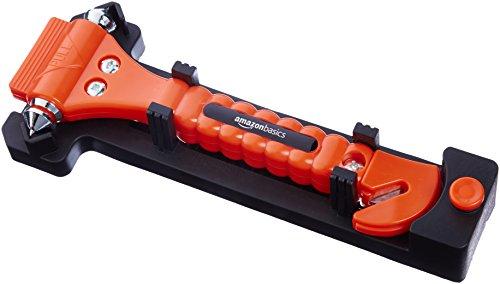 Amazon Basics - Cortador de cinturón de seguridad y martillo rompecristales de emergencia